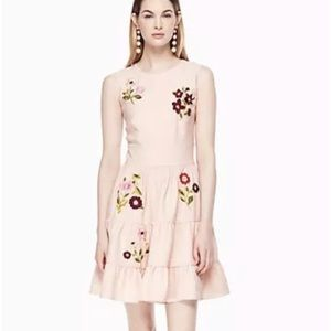 Kate Spade ♠️ flower embroidered dress nwt